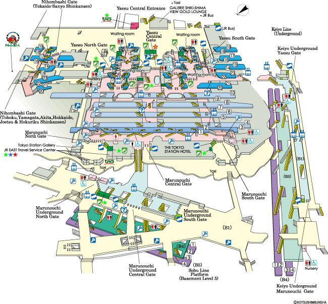 Tokyo station map - and other station maps