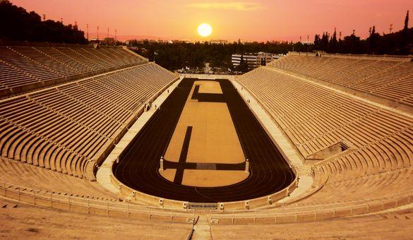 Panathenaic Stadium, Athens, Greece http://www.myathenstransfers.com/tours/athens-center/
