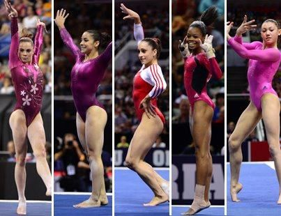the Fab Five. #Olympics #gymnastics
