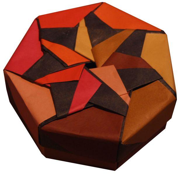 Tomoko Fuse Hexagon Box Instructions : Heptagon box by tomoko fuse origami pinterest