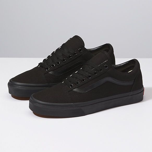 Canvas Old Skool | Shop Shoes | Vans shoes old skool, Black