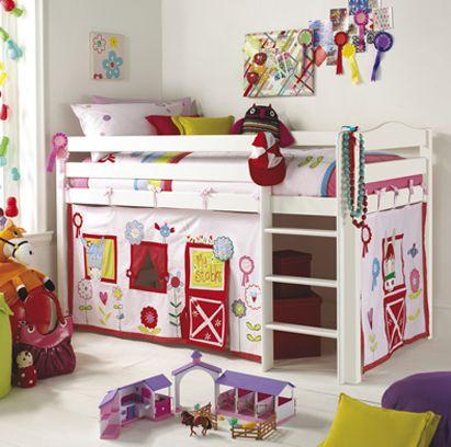 Izziwotnot Tempo Raised Bed White U0026 Girls Canopy