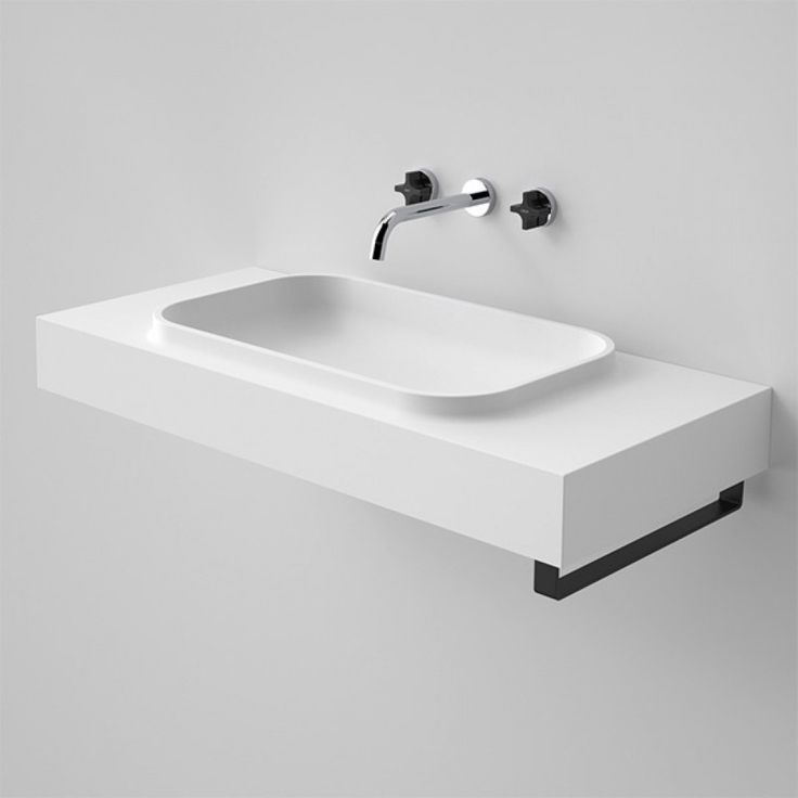 Sunstone 900 Solid Surface Wall Basin available now at #TheBlueSpace