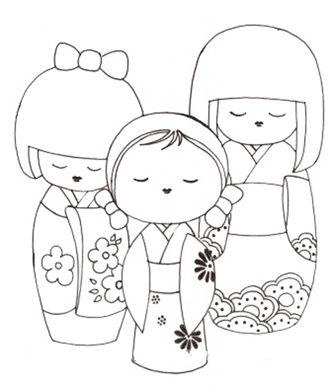 Coloriage des poupées chinoises                                                                                                                                                                                 Plus