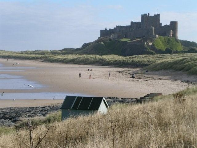 Bamburgh Castle on the coast of Northumberland, one of my favorite castles