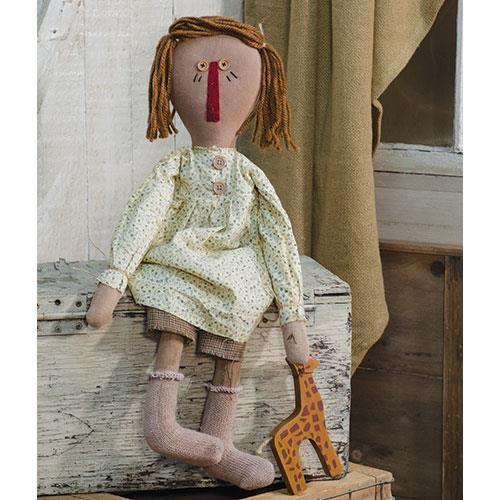 Dolly with Giraffe Toy Doll