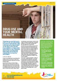 Drug use and your mental health - a fact sheet from Youth Beyond Blue