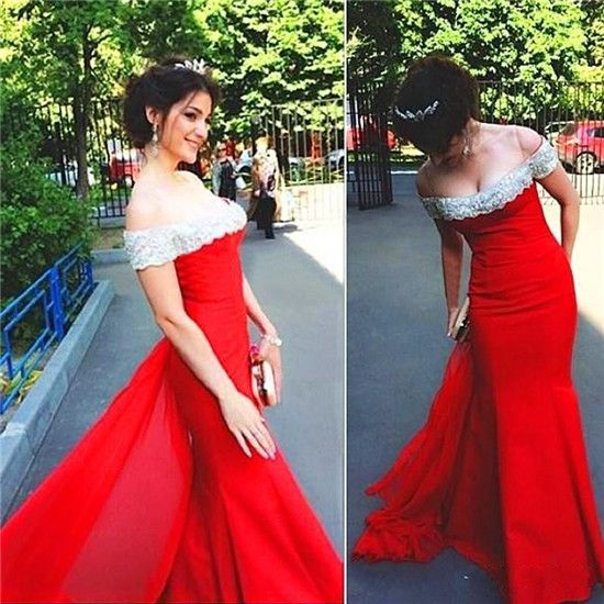 Prom Dresses Mermaid,Prom Gown Red, Off Shoulder Formal Evening Dresses,Party Dress Cheap, Homecoming Dresses,Graduation Dress Custom Plus size