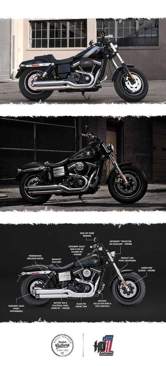Think raw & authentic. Now add a little more and you've got the perfect place to start. | 2017 Harley-Davidson Fat Bob
