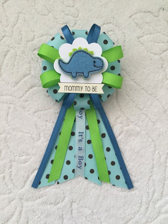 Mommy to be ribbon corsage for baby shower  it's by KatrinaInvites