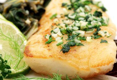 Filets de poisson grillés au persil