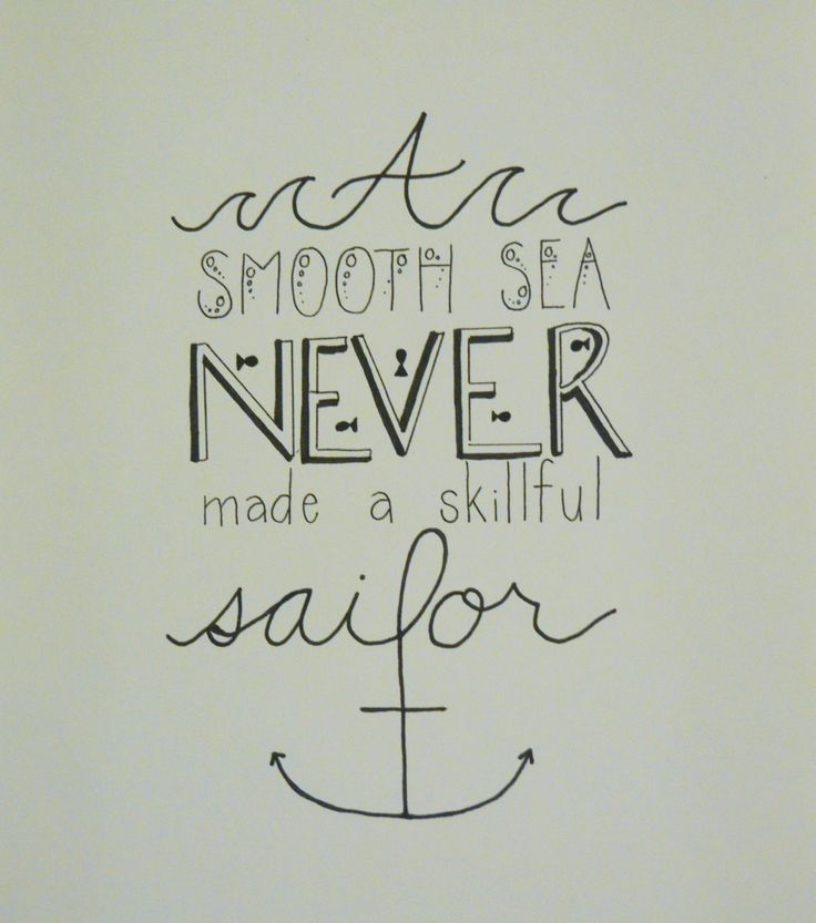 A Smooth Sea Never Made a Skillful Sailor Print by SundropsBoutique on Etsy