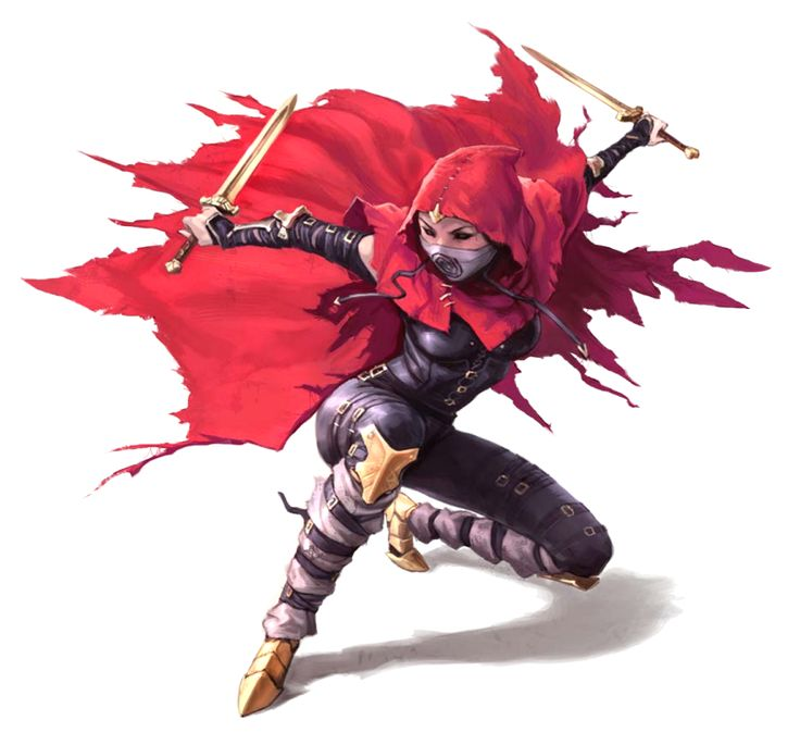 Female Knife Master Rogue - Pathfinder PFRPG DND D&D d20 fantasy
