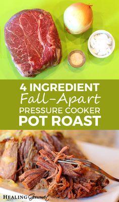 Delicious 4 Ingredient Fall-Apart Pressure Cooker Pot Roast