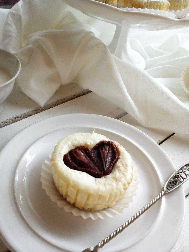 Mini serniczki z truskawkami , Strawberry mini cheesecakes cheesecake