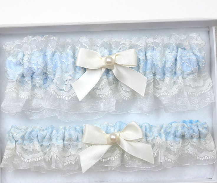 Blue Wedding Garter Set, Bridal Garter, Ivory Garter Set, Ivory Wedding Garter, Wedding Garter Set, Blue Garter, Blue Garter Set, Garter Set by theweddinggarter1 on Etsy