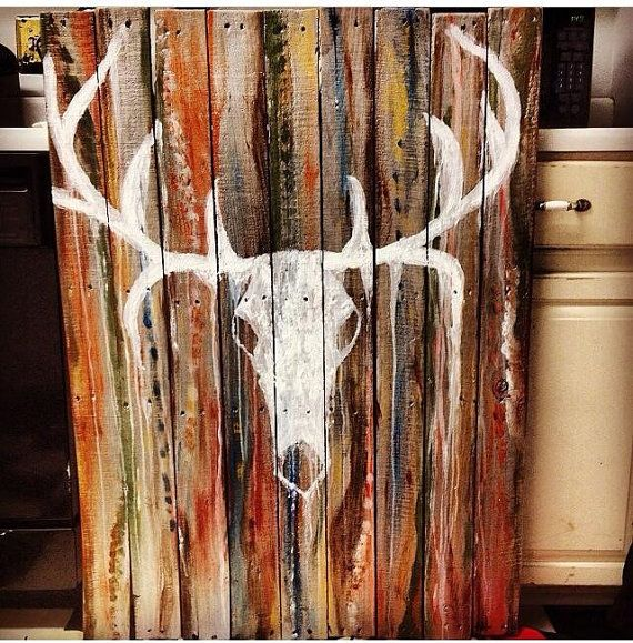 Western Decor Paint: 17 Best Ideas About Painted Wood Pallets On Pinterest