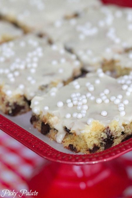 Banana Chocolate Chip Sheet Cake With Sweet Maple Icing Recipe ...