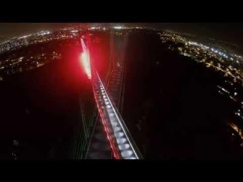 iluminación Viaducto de la Novena de Bucaramanga Colombia