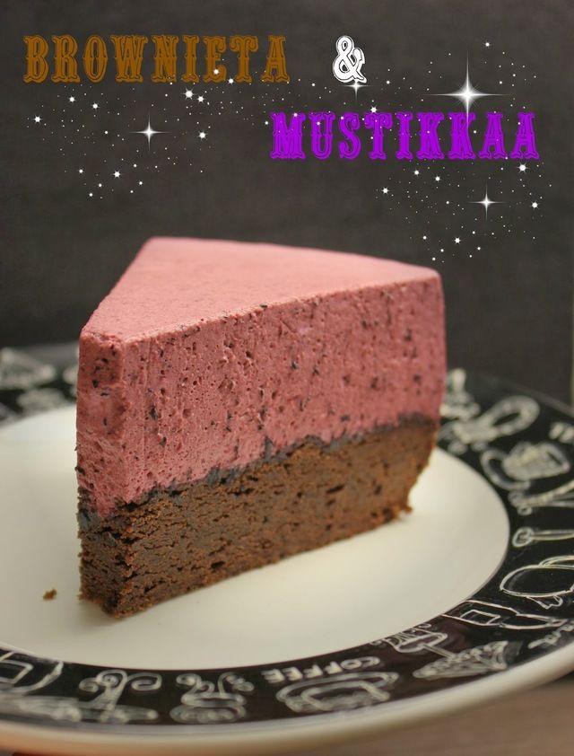 Brownie-Mustikkakakku