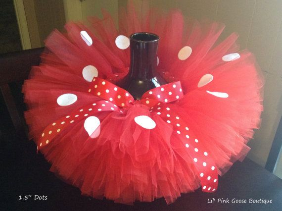 RED MINNIE Mouse Costume Minnie Mouse Tutu by LilPinkGoose on Etsy, $37.95
