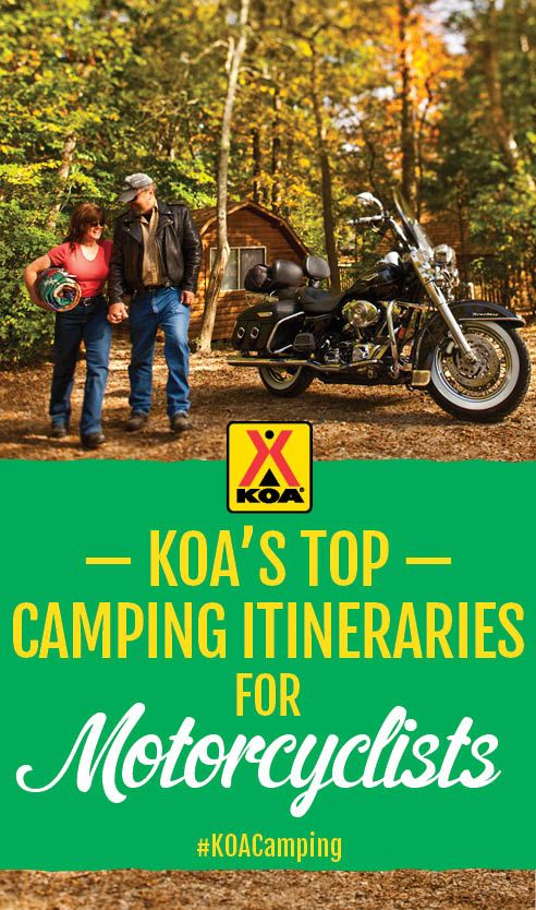 KOA's top itineraries for motorcycle camping