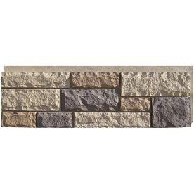 shop nextstone new england mocha rock faux stone veneer panels at lowescom