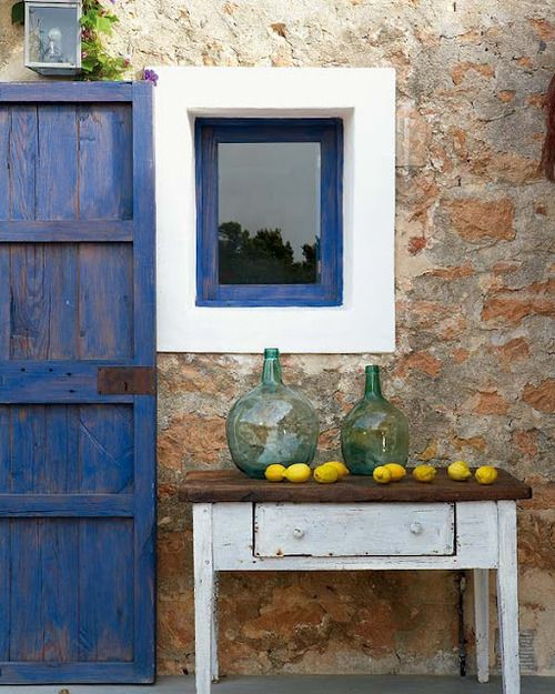.Decor, Colors Combos, Dreams Home, Vintage Chic, Summer House, Blue Doors, Rustic Looks, Rustic Chic, Outdoor Spaces