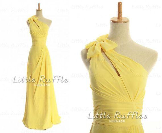 Daffodil Yellow Bridesmaid DressesFresh by LittleRufflesBridal, $109.00