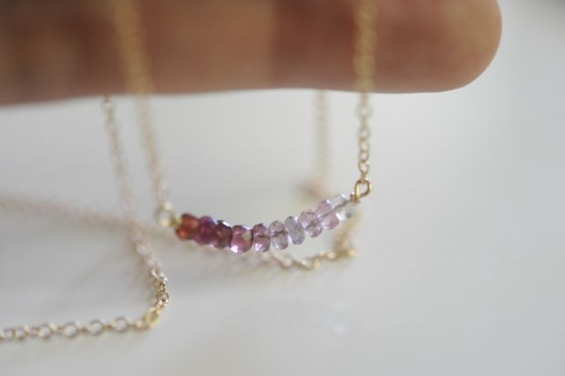 How To: Delicate Necklace. Great clear instructions for this popular design! LOVE this blog!