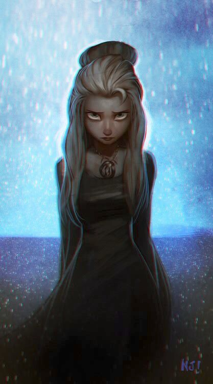 Dark Elsa....who's art is this? If you know add it as a comment I'll send you an…