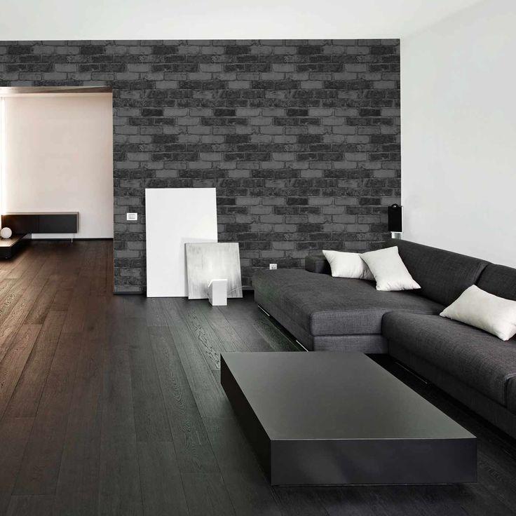 More Than Elements - Stone - Mørkebrun - Beton, Sten & Træ - Tapetkunst.dk
