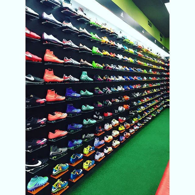 The vast variety of soccer cleats, from brands like Nike, Puma and Addidas, featured in Pro Soccer's store. They are consistently receiving shipments of new brands regularly! See the selection at Prosoccer.com!