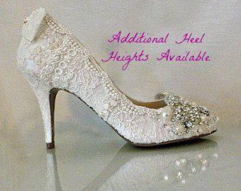 Blush Wedding Shoes Mid Heel By Everlastinglifashion