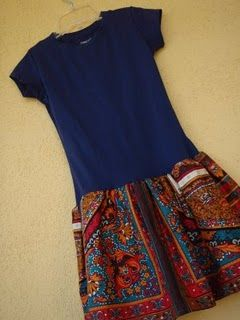 easy tshirt dress, cute and the pattern was designed for charity use..
