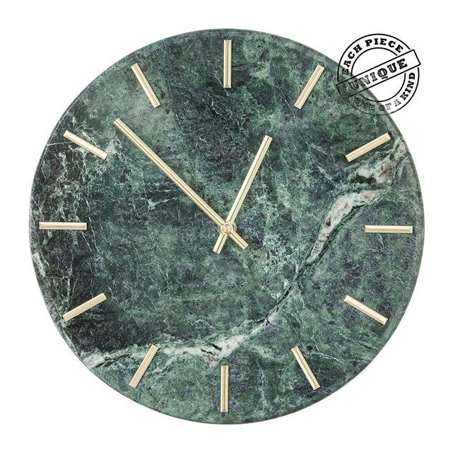 Horloge murale Desire marbre vert Kare Design KARE DESIGN : prix, avis & notation, livraison.  Horloge murale Desire marbre vert Kare Design0.000000kg30 cm x / Epaisseur 4.5 cm x 30 cmmarbre, aluminium (aiguilles), pile 1xAA (non fournie)