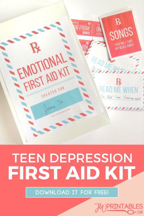 Teen Depression First Aid Kit | JW Printables