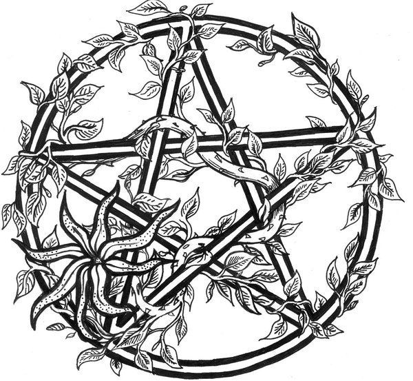 Tiggi Stones Tattoo Design. Overgrown Pentacle