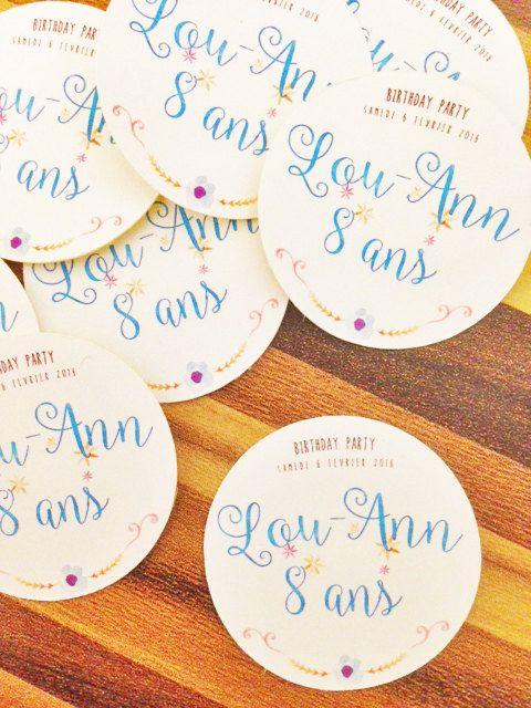 37 Stickers Communion / Bar Mitzvah : autocollants personnalisés pour pochette…