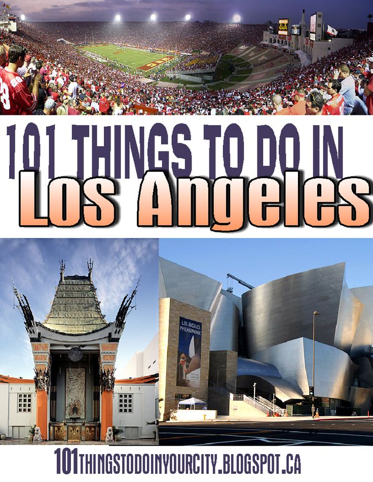 101 Things to Do in Los Angeles, California. Great list of city attractions and family events.