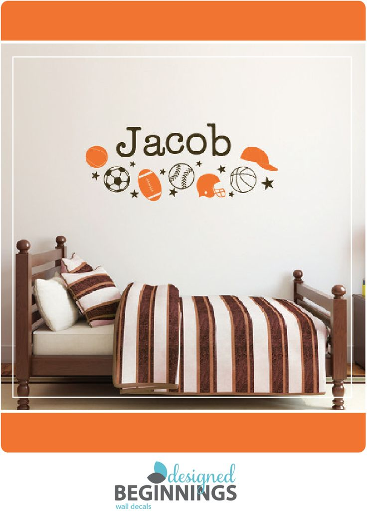 Sports decals and wall stickers for your nursery and bedroom walls.