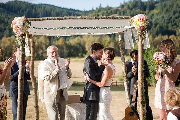 Stanfing under the chuppa - Mazel tov! – Jewish Wedding Traditions | letterpress wedding invitation blog