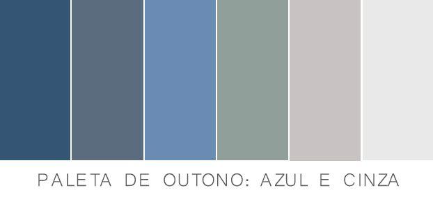 paleta cinza e azul                                                                                                                                                                                 Mais