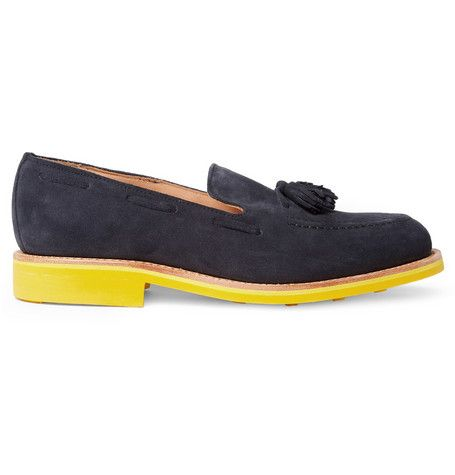 Mark McNairy Contrast-Sole Suede Tasselled Loafers | MR PORTER