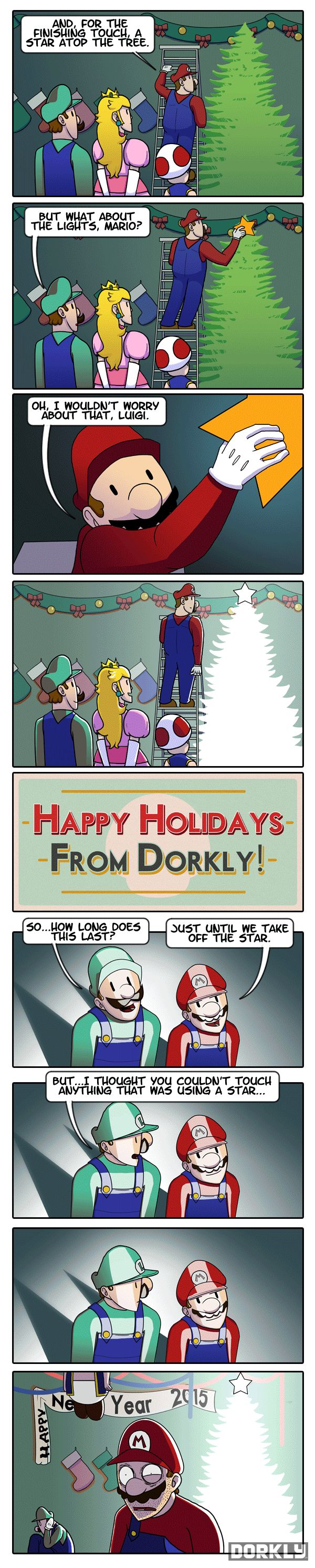 A Very Mario Christmas - Dorkly Comic