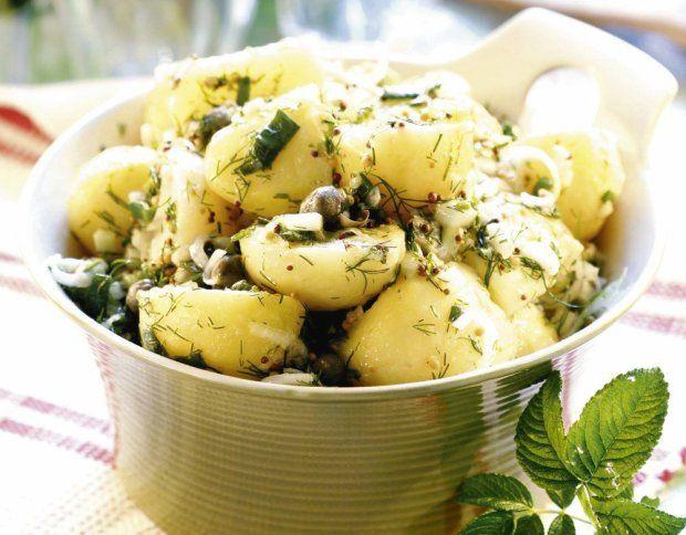Sałatka ziemniaczana z oliwkami