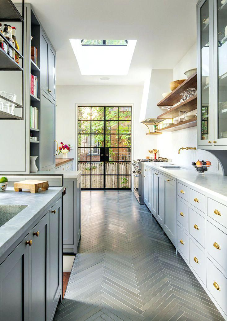 40 Awesome Galley Kitchen Remodel Ideas Design Inspiration In 2021 Galley Kitchen Design Kitchen Flooring Kitchen Design