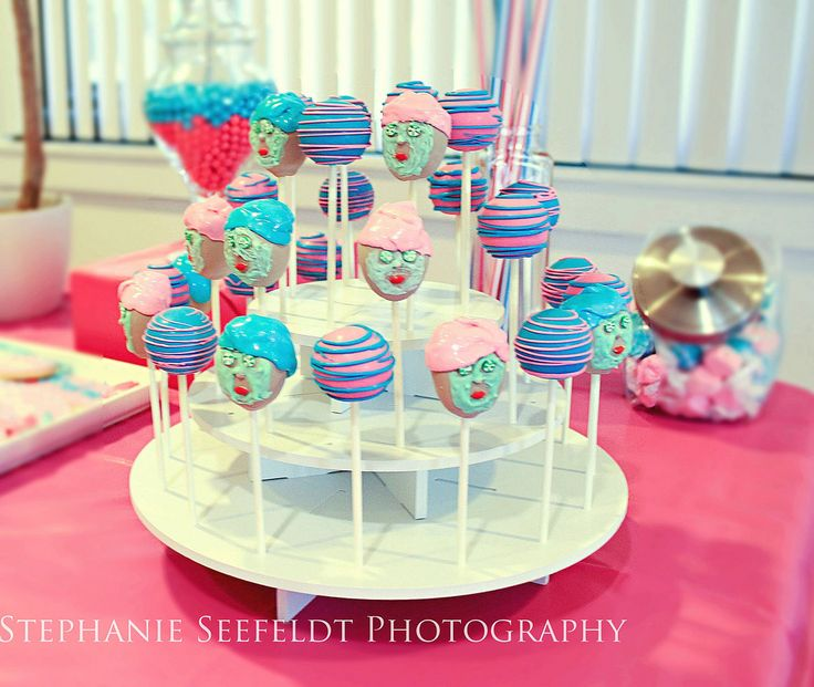 Round Cake Pop Stand Display: http://www.thesmartbaker.com/products/3-Tier-Round-Cake-Pop-Stand.html