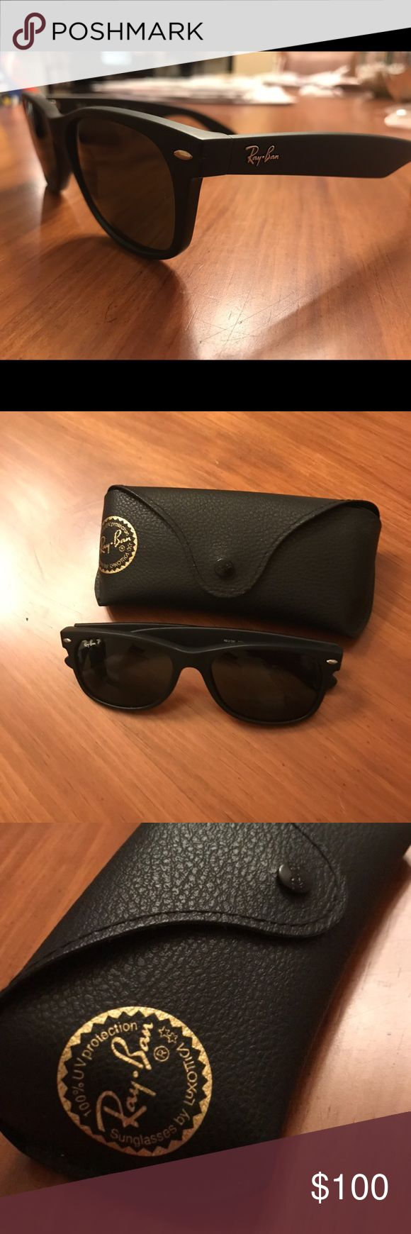 Ray-Ban Wayfarer Original (Polarized) Original Wayfarers that are polarized.  Worn them maybe 5-10 times.  No scratches or marks anywhere on the sunglasses.  Very good condition. Ray-Ban Accessories Sunglasses