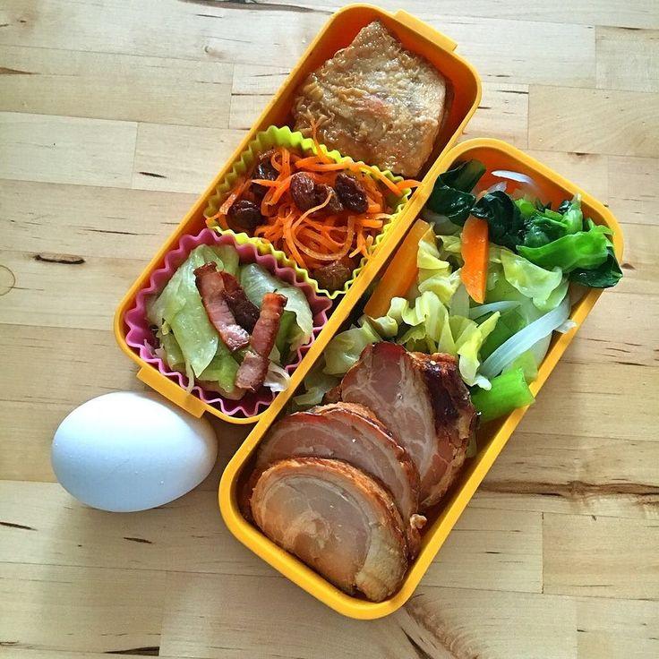 GWはなかったことにしますねなので今日が2クール目のDay5前日比-1.0kg  朝はタンブラーにバターコーヒー入れたので写真なし 昼ご飯は 茹で野菜焼き豚カジキグリルニンジンとレーズンのマリネレタスとベーコンのサラダゆで卵  #ダイエット #diet #食事記録 #糖質制限 #シリコンバレー式ダイエット #お昼ご飯 #Lunch #bulletproofdiet #完全無欠ダイエット #糖質オフ #ローカーボ #lowcarb #お弁当 #弁当 #Lunchbox by ymd736